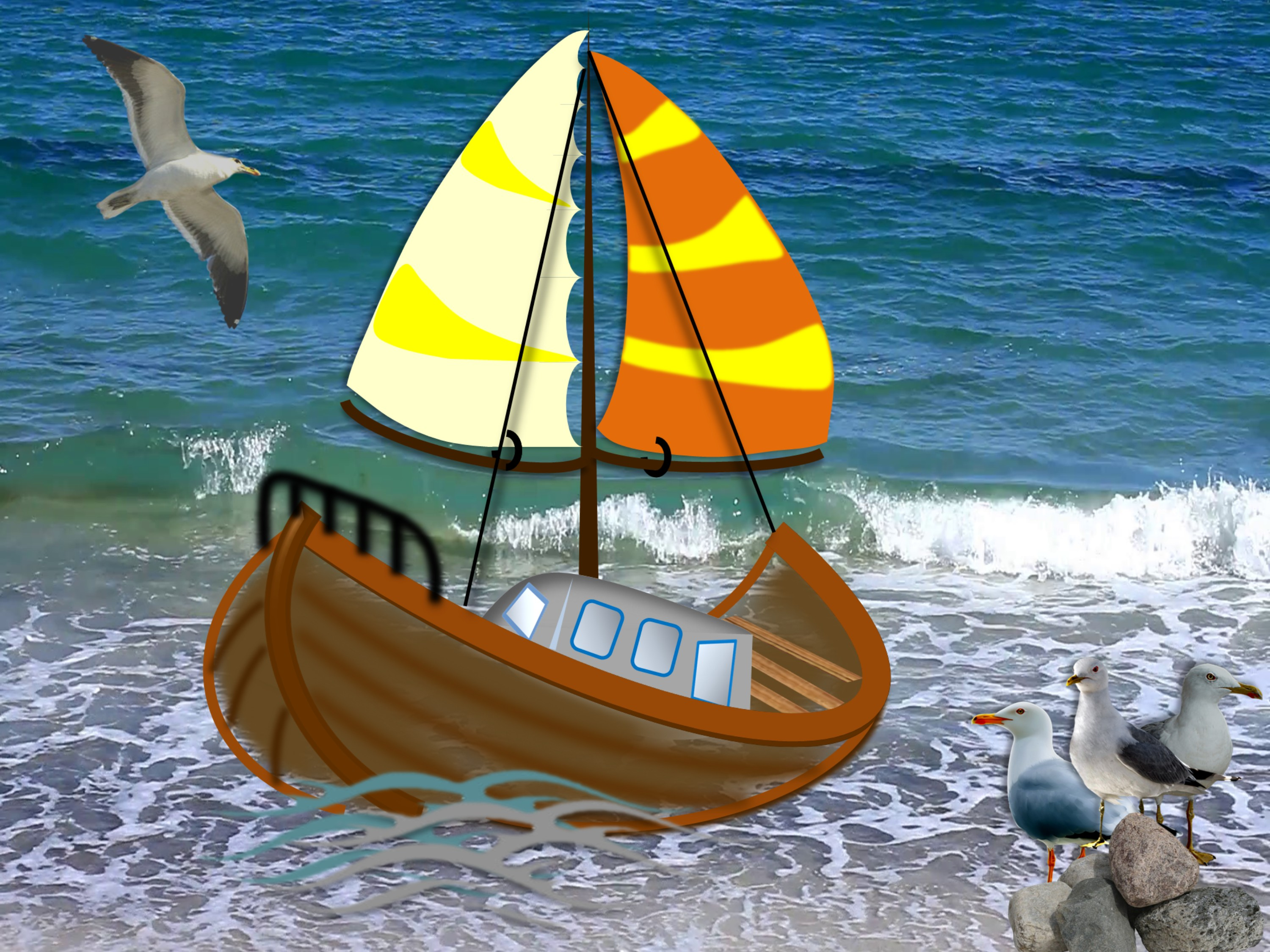 Create A Sailboat Using PowerPoint | Sailboat Design | Drawings and Design Ideas |