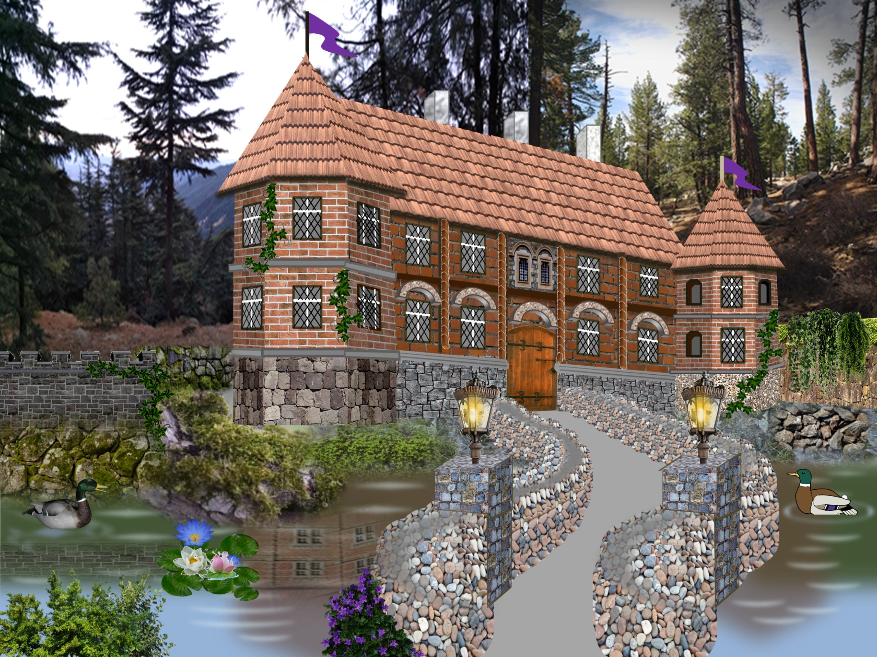 Animated Illustration | Lakeside Manor | Inspiration for Creative PowerPoint |